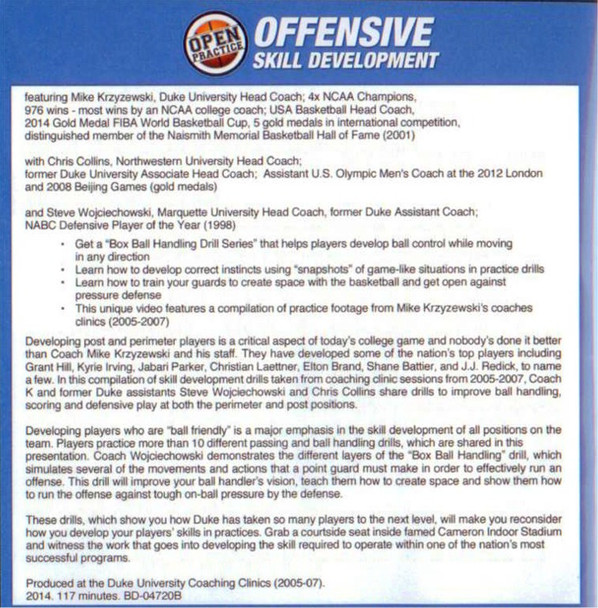 Offensive Skill Development by Mike Krzyzewski DVD