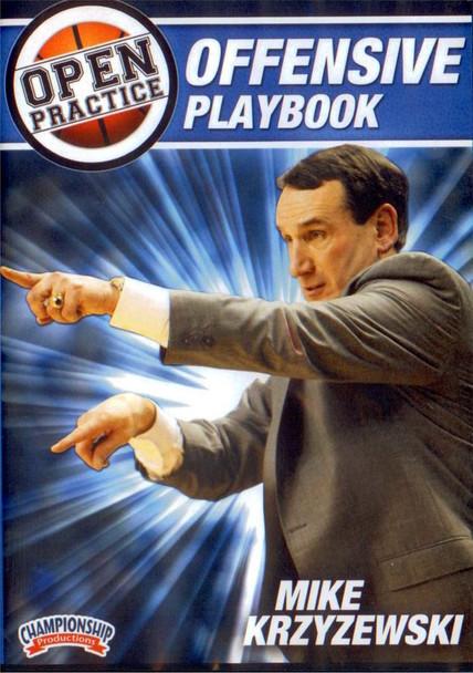 Mike Krzyzewski Open Practice: Offensive Playbook by Mike Krzyzewski Instructional Basketball Coaching Video