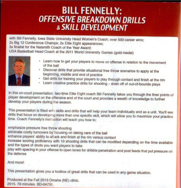 Offensive Breakdown Drills & Skill Development by Bill Fennelly