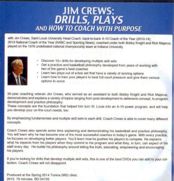 Coach basketball with a purpose by Jim Crews