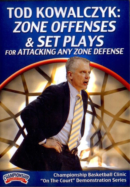 Zone Offenses & Set Plays For Attacking Any Zone Defense by Tod Kowalczyk Instructional Basketball Coaching Video
