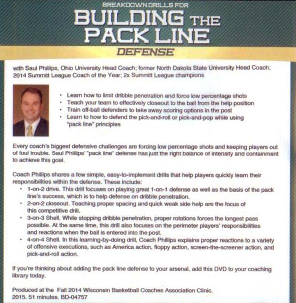 (Rental)-Breakdown Drills For Building The Pack Line Defense