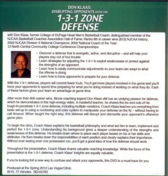 (Rental)-Disrupting Opponents With The 1-3-1 Zone Defense