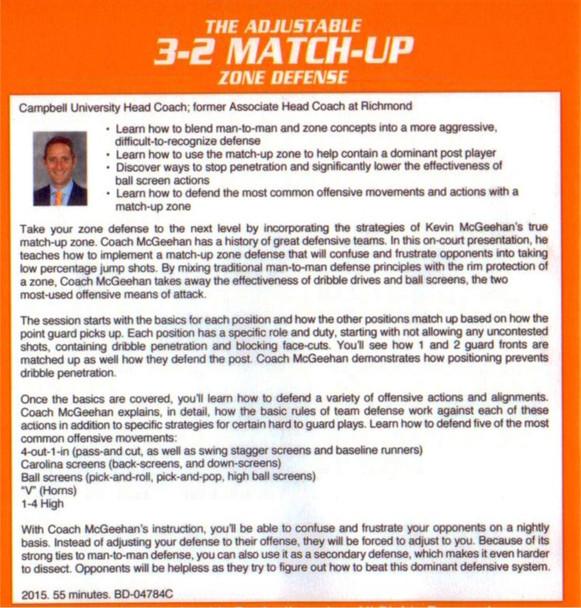 3-2 Match Up Zone Defense Drills Basics