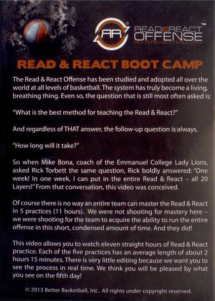 (Rental)-Read & React Offense Boot Camp Dvd