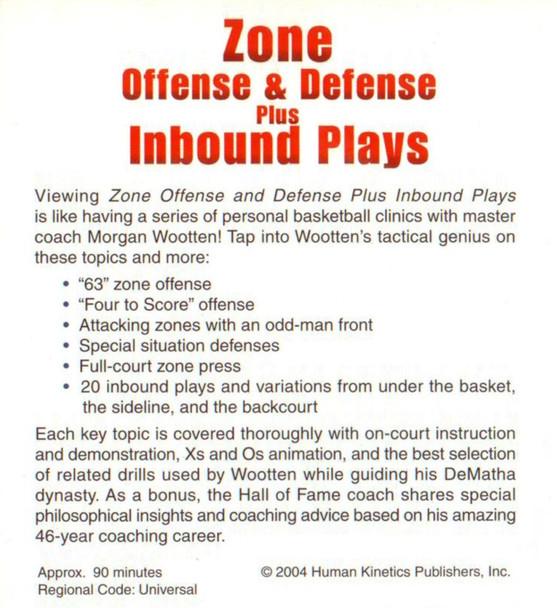(Rental)-Zone Offense & Defense Plus Inbounds Plays