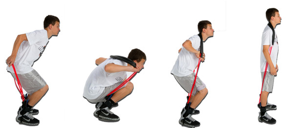 MVP Elite Vertical Jump resistance bands - how to put on.