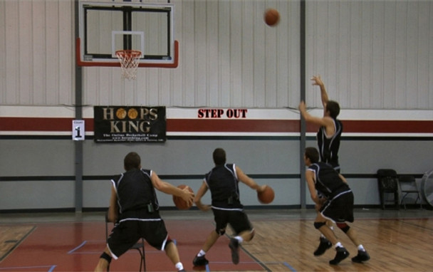 Step Out shot in basketball
