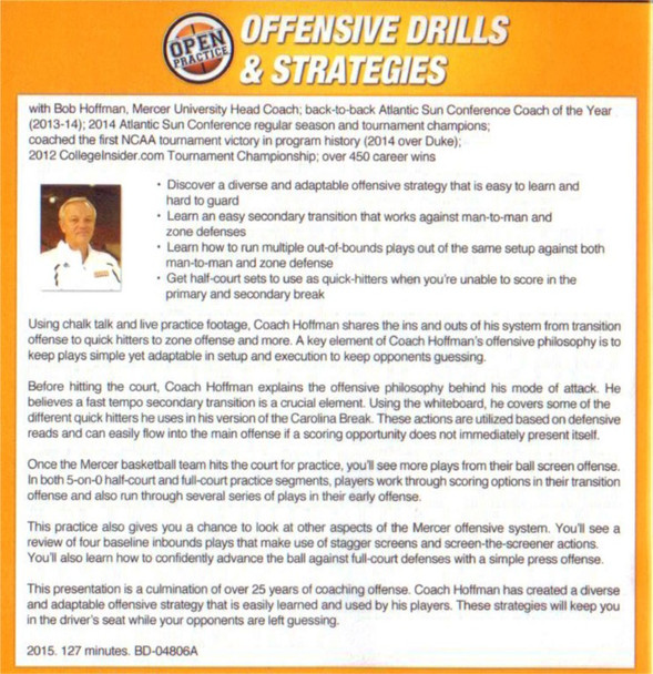 (Rental)-Offensive Drills & Strategies