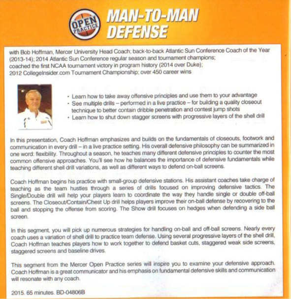 (Rental)-Man To Man Defense