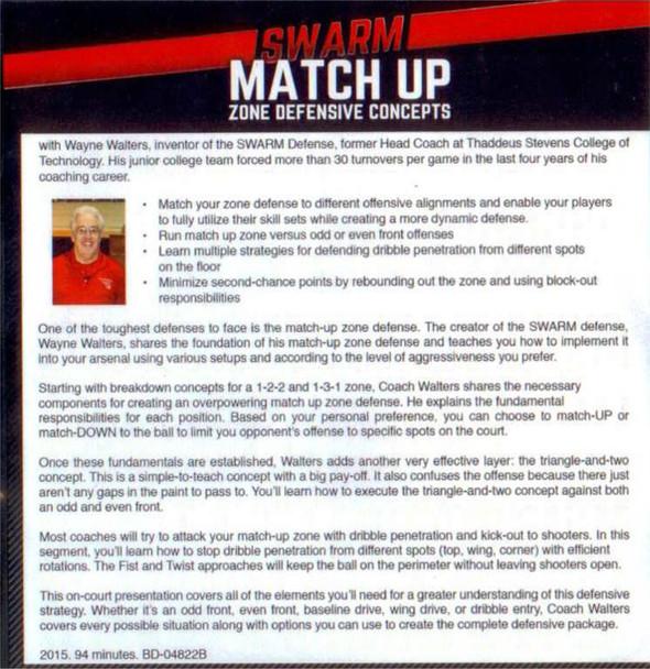 Swarm match up zone defense by Wayne Walters