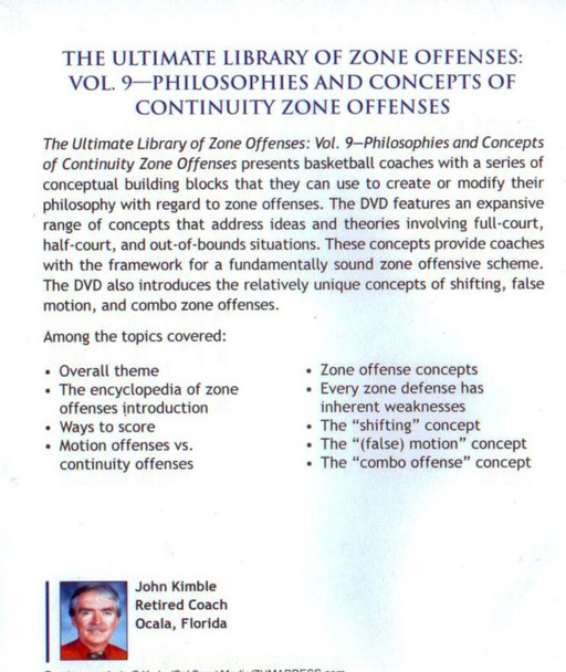 (Rental)-Philosophies & Concepts Of Continuity Zone Offenses