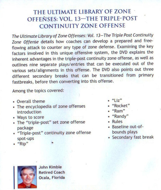 (Rental)-Triple Post Continuity Zone Offense