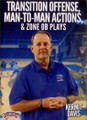 Transtion Offense, Man To Man Actions, & Zone Ob Plays by Kermit Davis Instructional Basketball Coaching Video