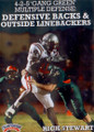 "4-2-5 ""GANG GREEN"" MULTIPLE DEFENSE: DEFENSIVE BACKS & OUTSIDE LINEBACKERS by Rick Stewart Instructional Basketball Coaching Video"