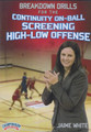 Breakdown Drills for the Continuity On Ball Screen High Low Offense by Jaime White Instructional Basketball Coaching Video