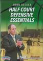 Half Court Defensive Essentials by John Becker Instructional Basketball Coaching Video