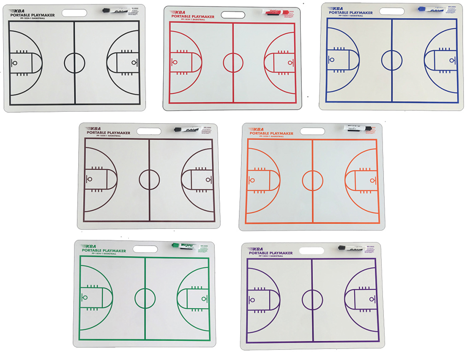 18 X 24 basketball coaching dry erase board school colors