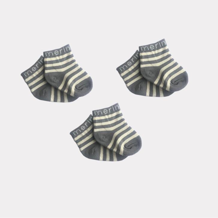 Merino Baby Socks - 3 pairs