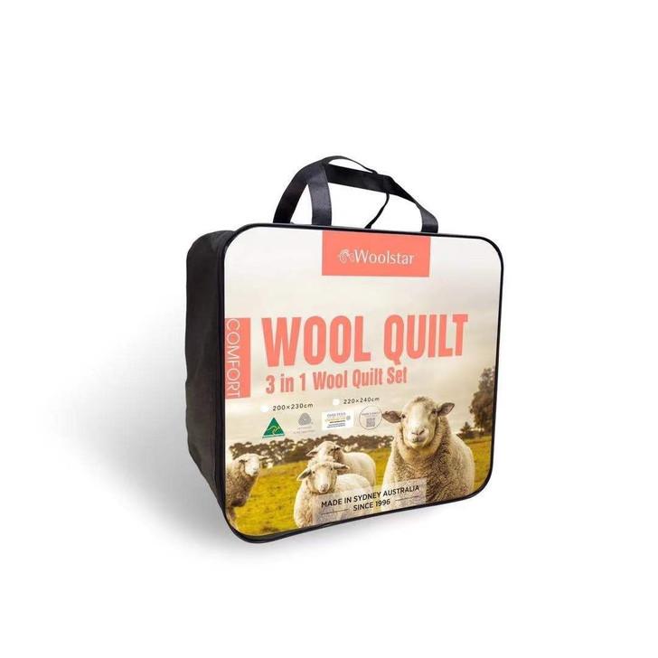 Comfort - 3 in 1 Wool Quilt Set