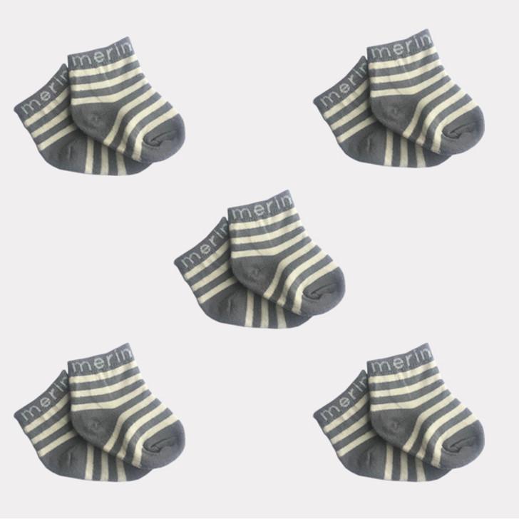 Merino Baby Socks - 5 pairs