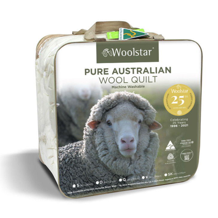 25 year Anniversary Winter Wool Quilt