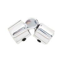 1 in. Round Zip Hinged Corner Polished Aluminum 1 in. Scale