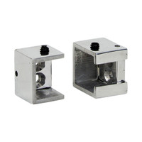 Square Café Zip Bracket Polished Aluminum 1 in. Scale