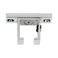 Square Ceiling Zip Bracket Polished Aluminum 1 in. Scale