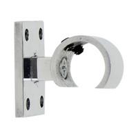 Flush Zip Bracket Polished Aluminum 1 in. Scale