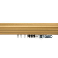 3 in. Fluted Wood Traverse Rod