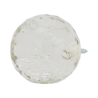 "Faceted Glass Bubble Ball Finial 1"" Scale"