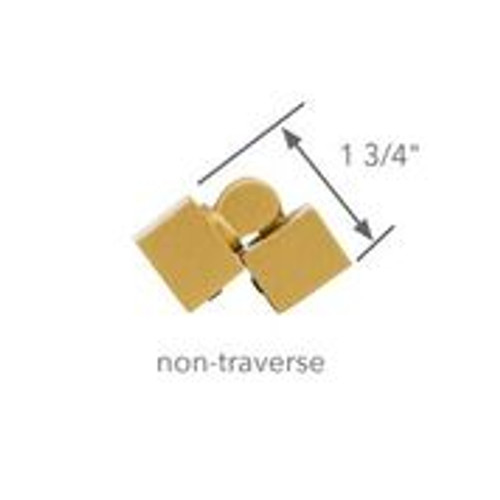 "1 inch Square Zip Hinged Corner - Non Traverse 1"" Scale"