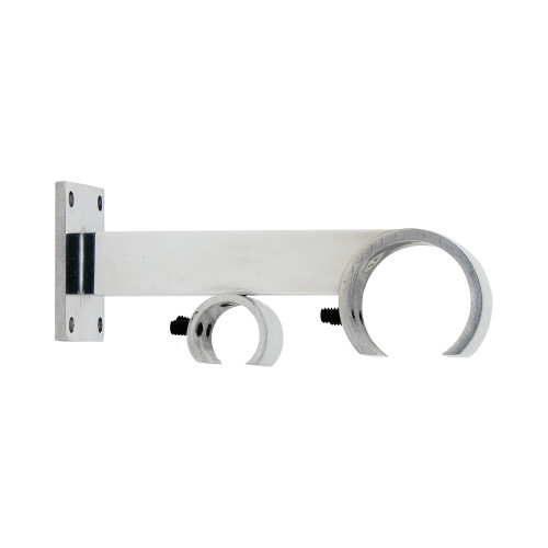 """VR Zip Bracket Polished Aluminum 2"""" Scale"""