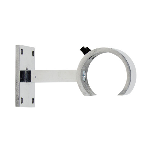 "Monaco Zip Bracket Polished Aluminum 2"" Scale"