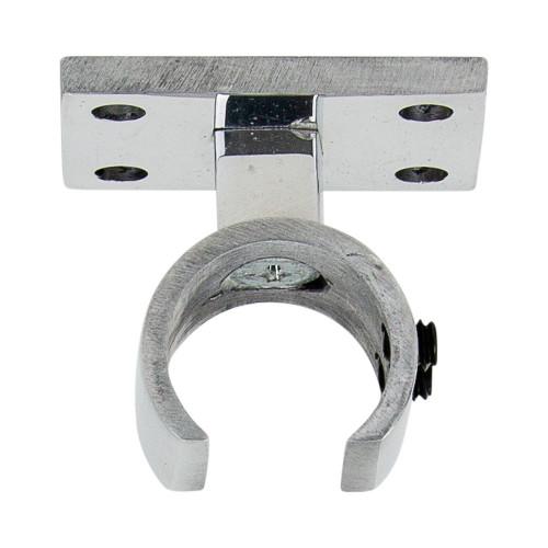 """Ceiling Zip Bracket Polished Aluminum 1"""" Scale"""