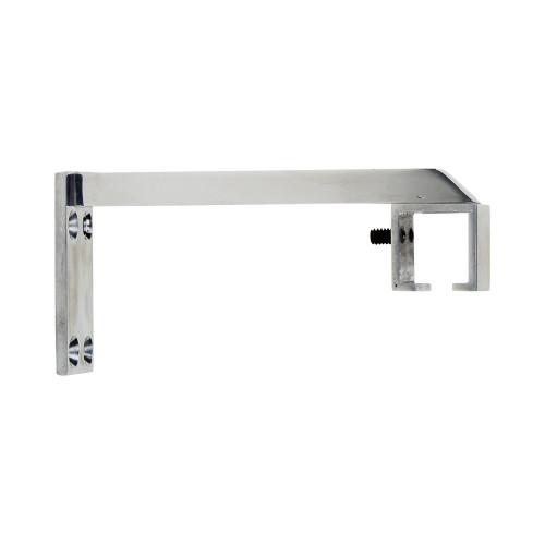 """Square Zip 6"""" Return Bracket Polished Aluminum 1"""" Scale"""