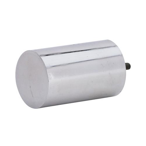 "Cylinder 2.0 Finial Polished Aluminum 1"" Scale"