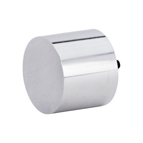 "Cylinder 1.0 Finial Polished Aluminum 1"" Scale"