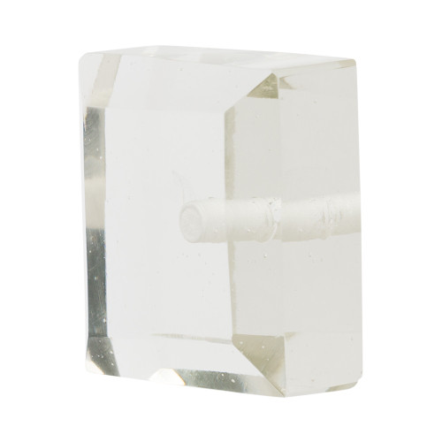 "Beveled Glass Square Finial 2"" Scale"