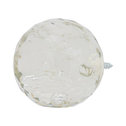 """Faceted Glass Bubble Ball Finial 2"""" Scale"""
