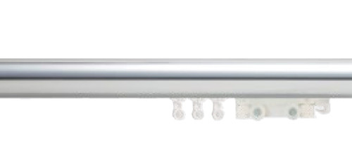 "1-3/4"" Polished Aluminum Ripplefold Drapery Rod"