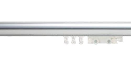 "1-3/4"" Polished Aluminum Ripplefold Drapery Rod"