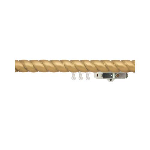 "1-3/4"" Carved Wood Ripplefold Drapery Rod"