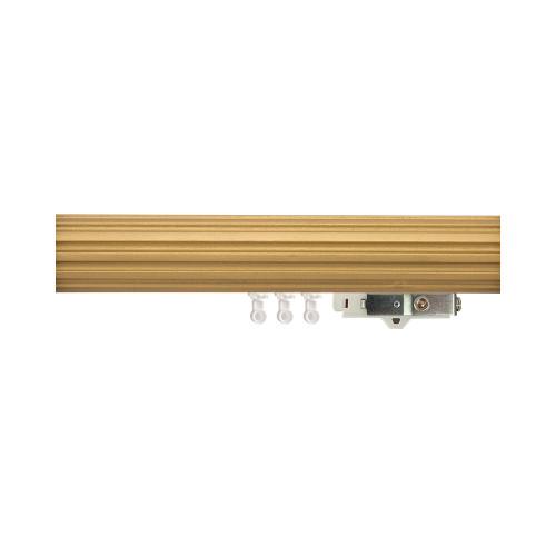 "3"" Fluted Wood Ripplefold Drapery Rod"
