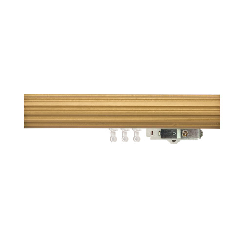 "1-3/4"" Fluted Wood Ripplefold Drapery Rod"