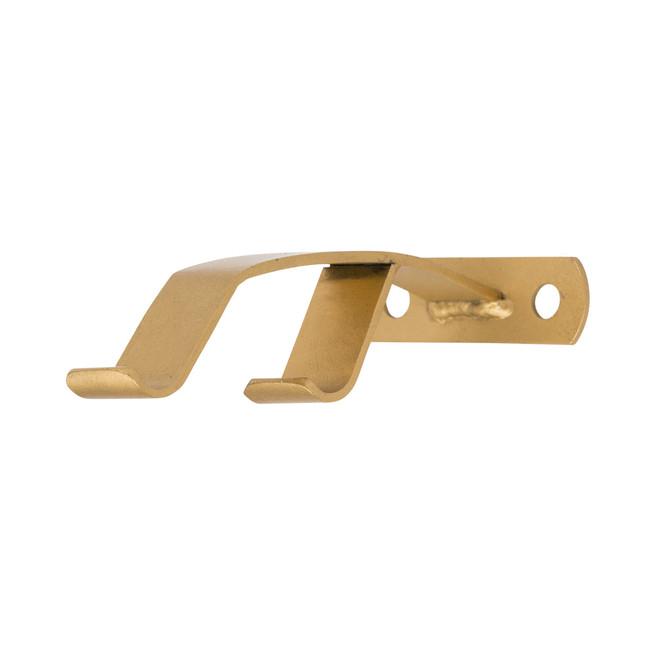 Modern Double Rod C Ring Mullion Bracket 1 in. Scale