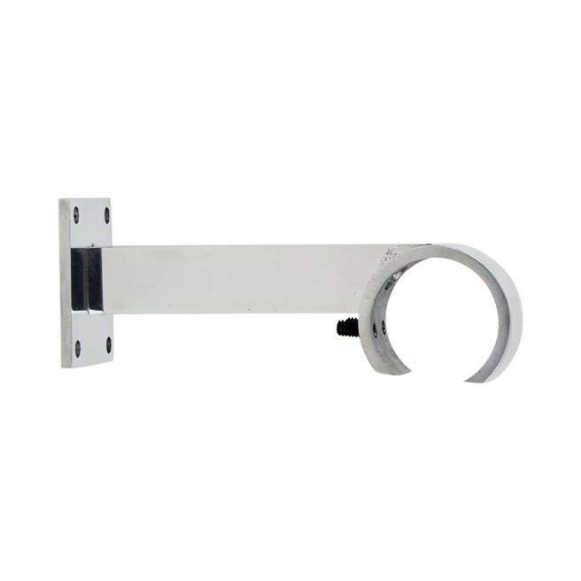 VR Single Rod Zip Bracket Polished Aluminum 2 in. Scale