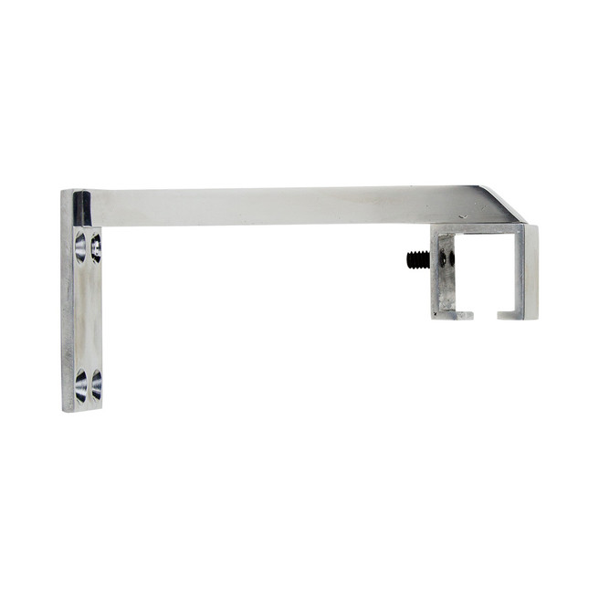Square Zip 6 in. Return Bracket Polished Aluminum 1 in. Scale