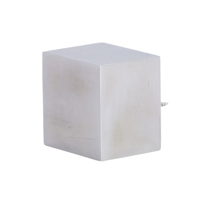 Cubic 2.0 Finial Polished Aluminum 2 in. Scale